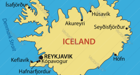Iceland Map And Satellite