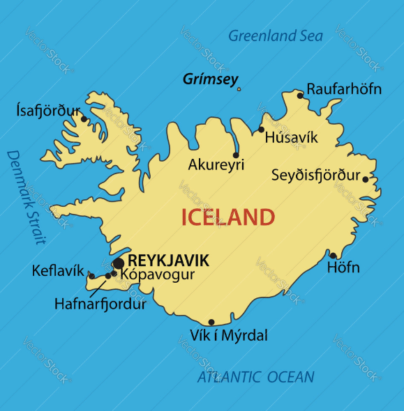 Iceland Map And Satellite Travel Gudier